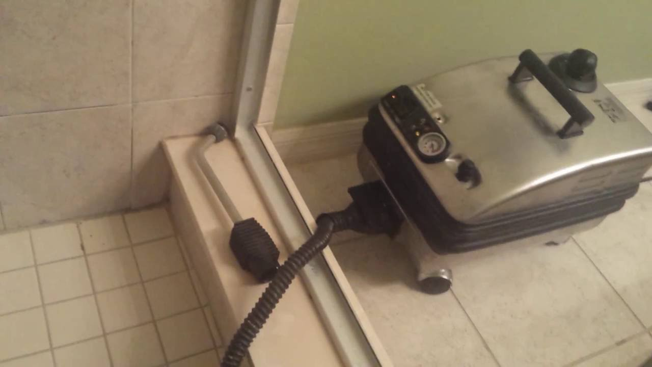 Sanitizing & Cleaning a Shower with our Hydro-Force Vapor Steamer ...