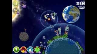 Angry Birds Space - Solar System. Level 10-3 Earth. 3 stars
