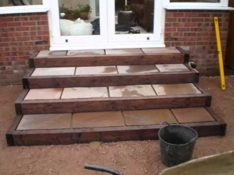 patio-steps-garden-design.wmv - YouTube on Backyard Stairs Ideas id=77210