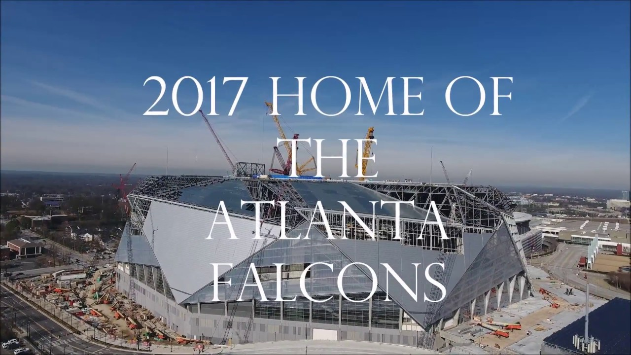 New 2017 aerial views of mercedes benz stadium the for Mercedes benz of columbus ga