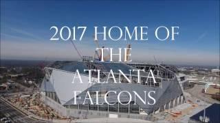 NEW 2017 Aerial Views of Mercedes Benz Stadium & The Georgia Dome NEW HOME OF THE ATLANTA FALCONS