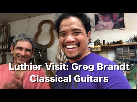 Visiting Luthier Greg Brandt | Filing Frets | Playing Classical Guitars