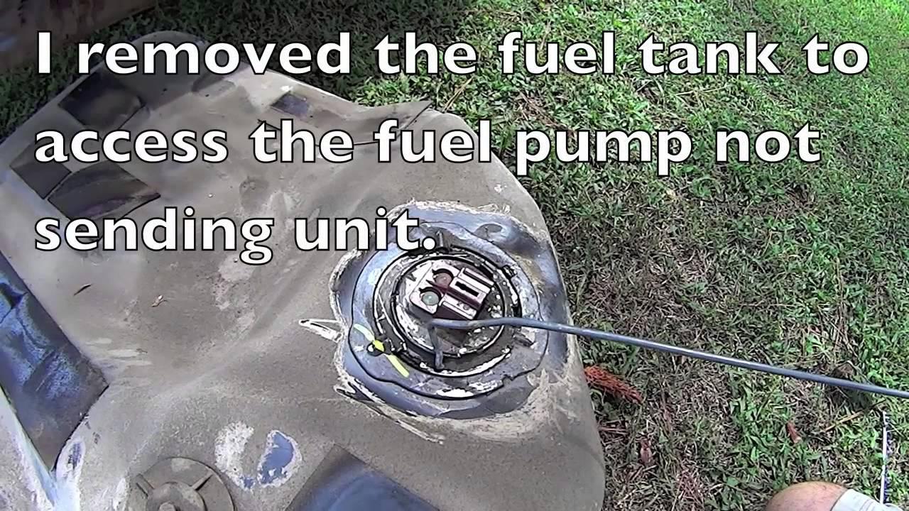 Diy How To Fix A Stuck Fuel Gauge Honda Accord Sending Unit Repair 2003 Pump Location And