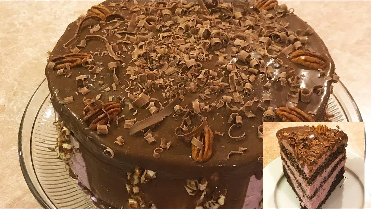 Pastel de Chocolate con relleno de Chesscake