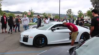 Loud 2017 Audi R8 V10 scares people!!!