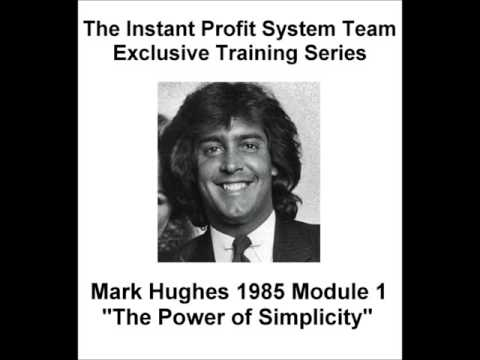 Module 1  Mark Hughes Rare 1985 Training on  The Power of Simplicity