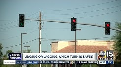 Traffic signals changing in Gilbert