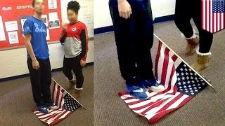 School security increased after photo of student standing on flag goes viral - TomoNews