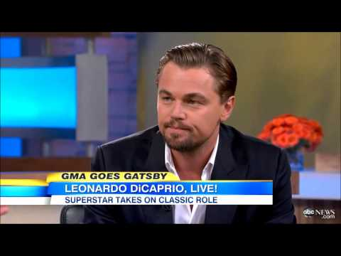Interview Leonardo DiCaprio on The Great Gatsby Film - May 8, 2013