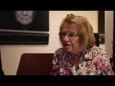 Holocaust survivor and media personality Dr. Ruth shares her story at the UN