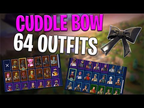 Cuddle Bow Back Bling on 64 Outfits | Cuddle Team Leader - Fortnite