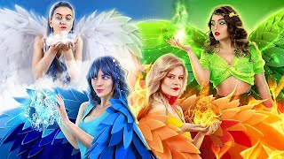 Fire, Water, Air, and Earth Fairies! Four Elements in Real Life