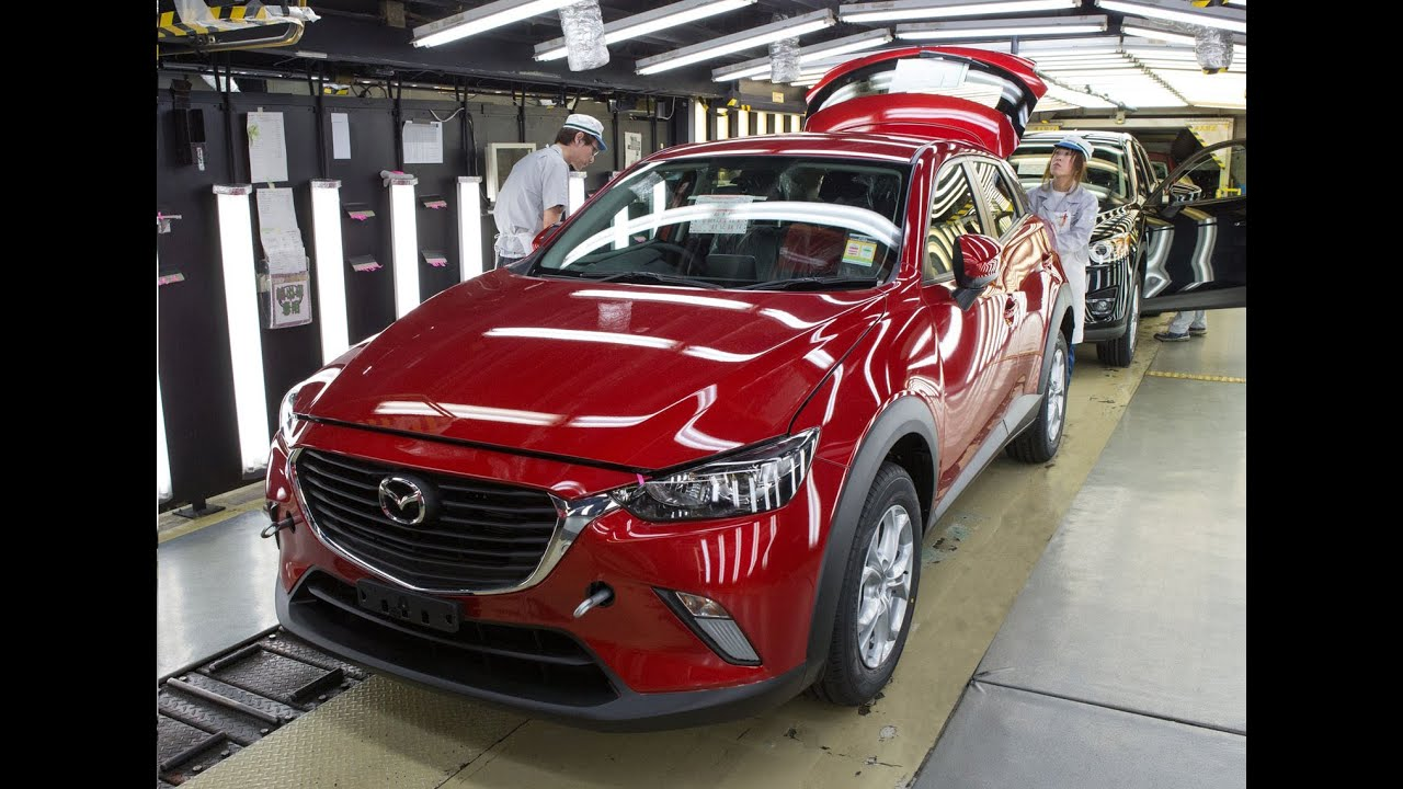 First Ever Mazda Cx 3 Production Line In Japan Youtube