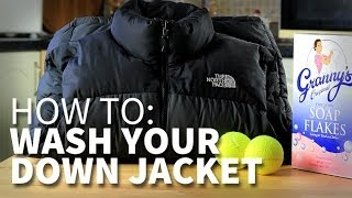 How to wash your hiking down jacket without ruining the feather fill.