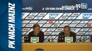 Nagelsmann und Schmidt nach TSG 1899 Hoffenheim vs. 1. FSV Mainz 05 (1. Bundesliga, 2015/16)