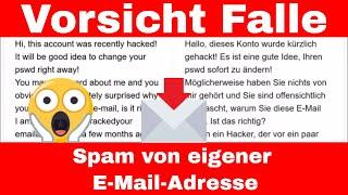 """Account gehackt - Fremde Mail von vermeintlich """"eigener"""" Email-Adresse - Mail-Spoofing - Sicherheit"""