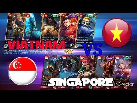 MOBILE LEGEND : VIETNAM VS SINGAPORE!! MUST WATCH!! NATIONA