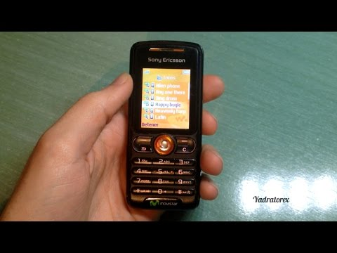 Sony Ericsson W200 retro review (old ringtones, themes, tetris game...)