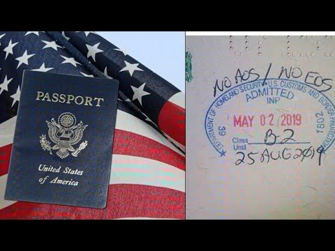 Nigerians Get 'No EOS / AOS' Stamp On Nigerian Passport From US Immigration Officers.