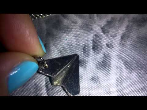 Top ID Cute Paper Plane Airplan Styles Pendant Necklace