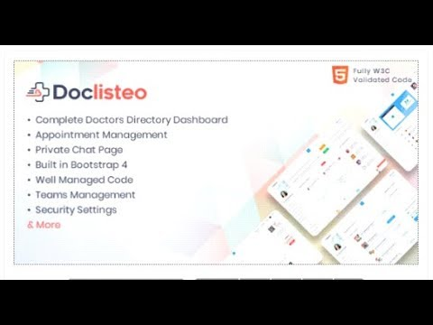 Doclisteo - Responsive Doctors Directory Dashboard Template | Themeforest  Templates