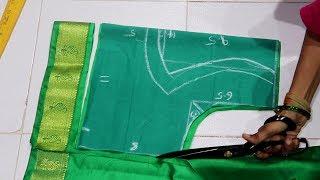 Designer Back Pot Neck Patch Work Design Cutting Stitching for Silk Saree Blouse/Lehenga