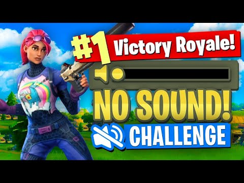 WINNING With NO SOUND Challenge (Fortnite Battle Royale)