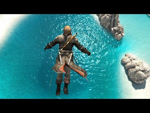 Assassin's Creed 4 Black Flag Templar Outfit & Island Exploration