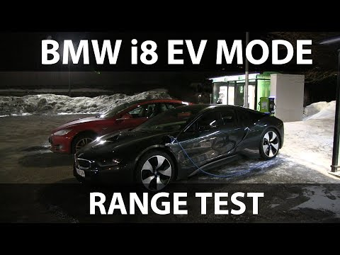 BMW i8 EV mode range test