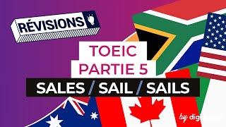 Anglais - TOEIC partie 5 : Sales/ Sail/ Sails
