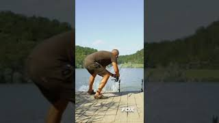 HE GOT PUSHED INTO THE LAKE! 😱🤣