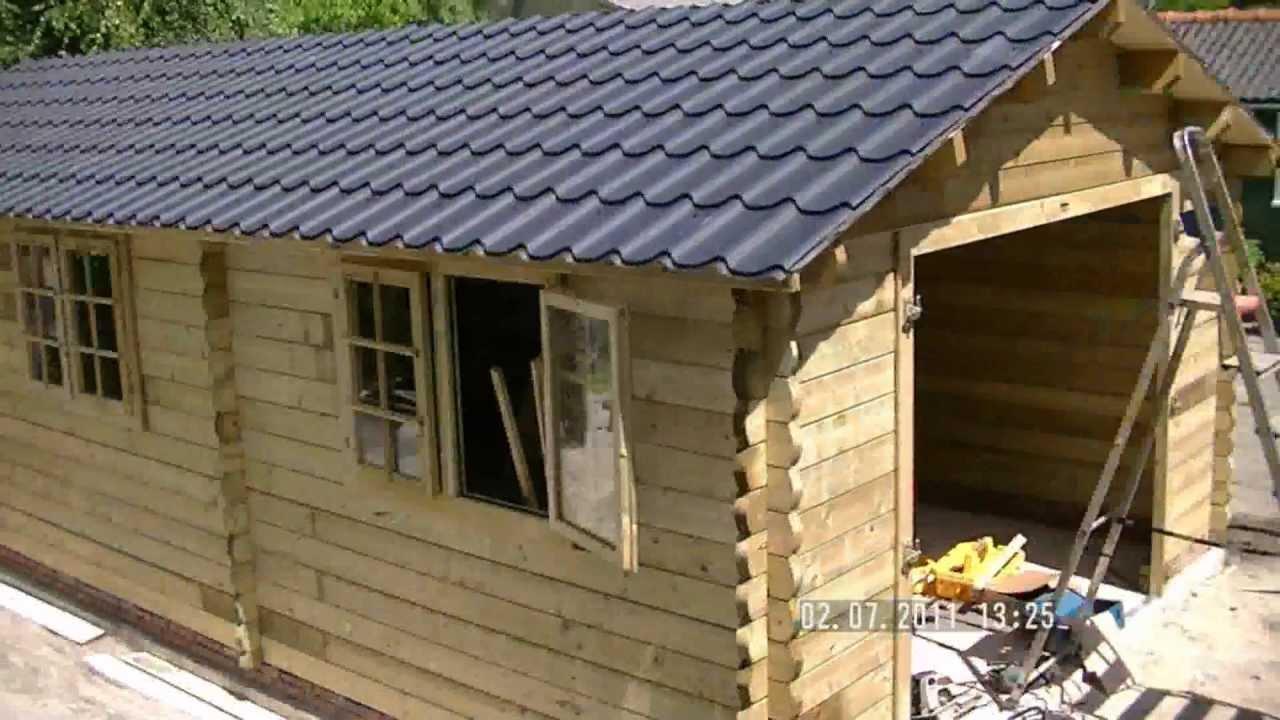 Zelf Garage Bouwen : Houten garage bouwen in seconden youtube