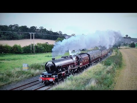 6201 'Princess Elizabeth' In Full Flight Over The Marches - Cathedrals Express 2016