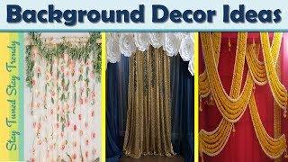 Festival background decoration ideas at home| Ganpati Back decor| backdrop |stay tuned stay trendy