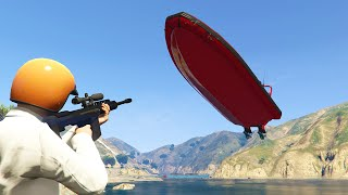 SNIPERS vs. HIGH SPEED BOATS! (GTA 5 Funny Moments)