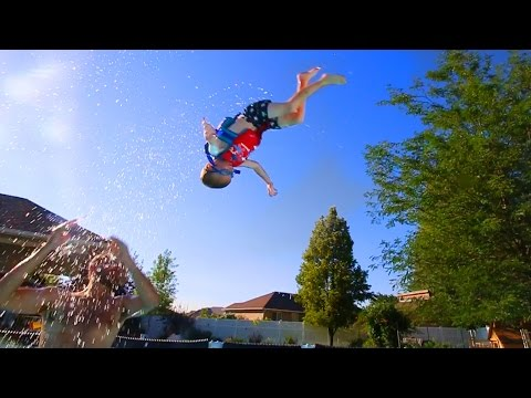 3 Year Old Can Backflip?!