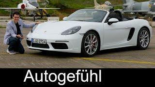 Porsche 718 Boxster S FULL REVIEW test driven Sound/Drift/Acceleration New Neu - Autogefühl