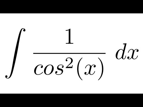 Integral Of 1 Cos 2 X Subsution