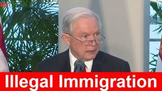 FULL: Attorney General Jeff Sessions Speech at Sanctuary City Immigration Crackdown Press Briefing Free HD Video