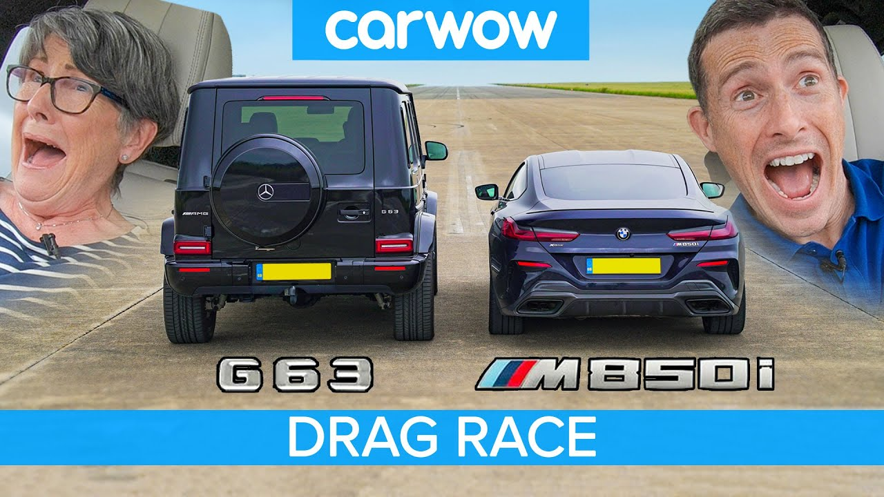 Video: BMW M850i xDrive vs Mercedes-Benz G63 AMG Drag Race