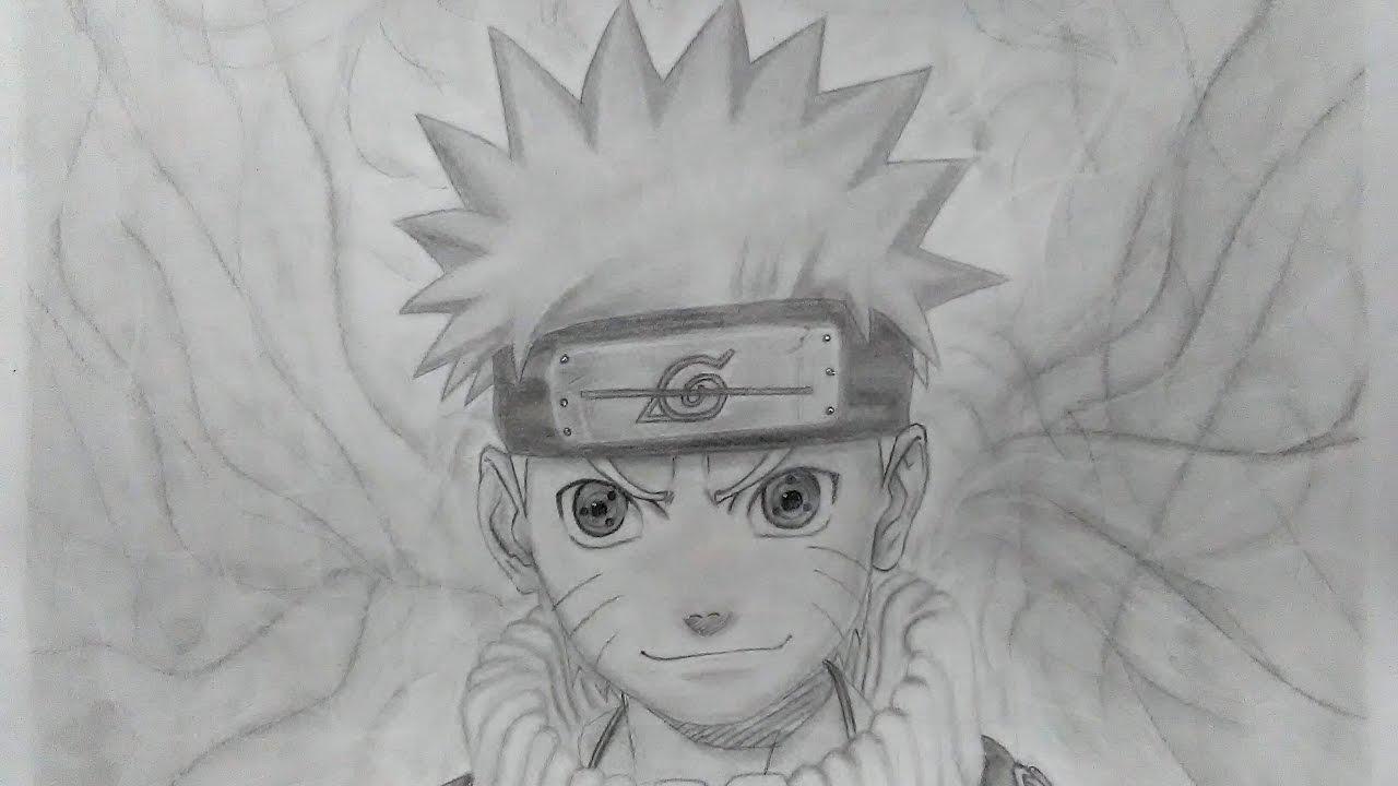 Speed Drawing Naruto With Sharingan Eyes