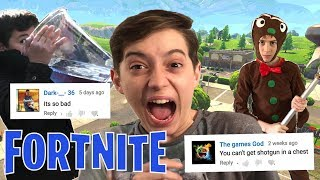 Fortnite In Real Life -Reacting To Hate Comments!😫