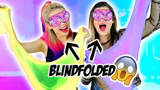 Download Blindfolded Slime Challenge! Making Giant Fluffy Slime With Cloe Couture! Mp3 and Videos
