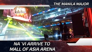 Na`Vi arrive to  Mall of Asia Arena @ The Manila Major (ENG SUBS!)