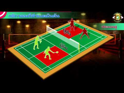 050-การเล่นและการให้คะแนนของกีฬาแบดมินตัน