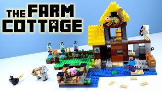 LEGO Minecraft 2018 The Farm Cottage Construction Set Speed Build Toy Review