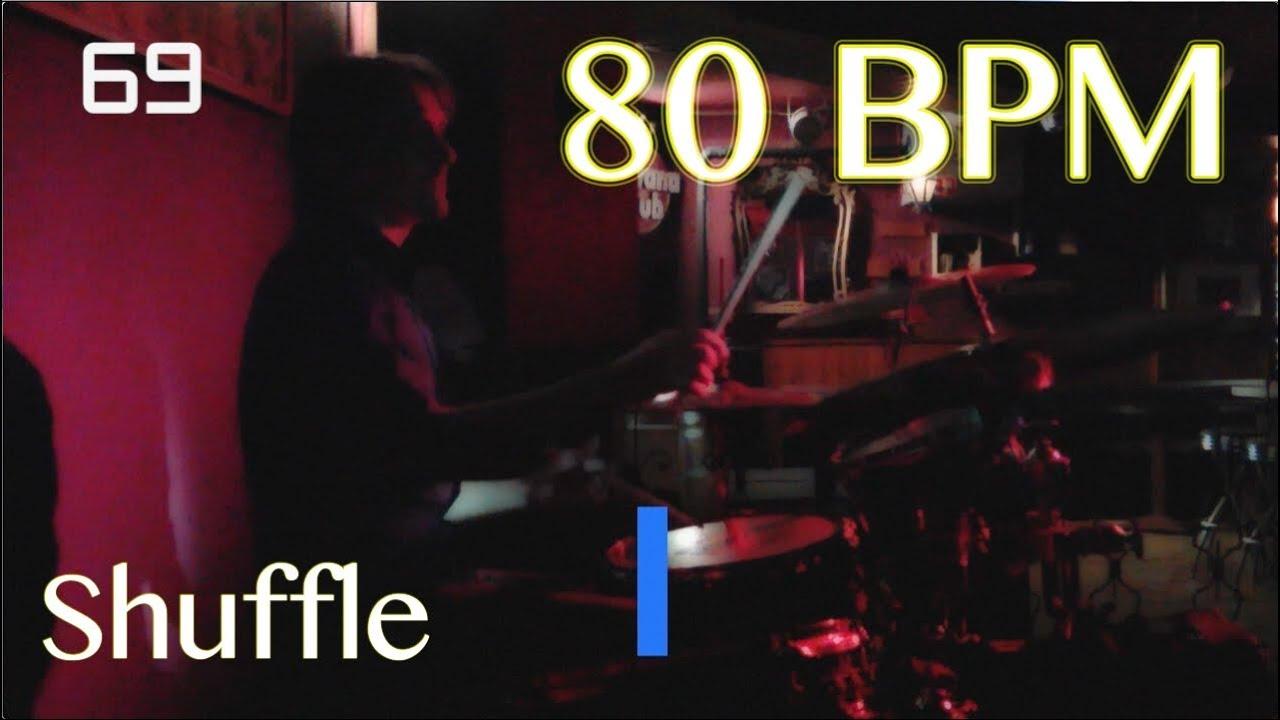 80 BPM Shuffle Beat - Drum Track