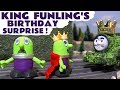 Funny King Funlings royal birthday present swap with Thomas and Friends Tom Moss toy train TT4U