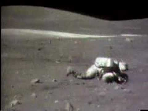 Apollo Moon astronaut falls flat on his face! - YouTube