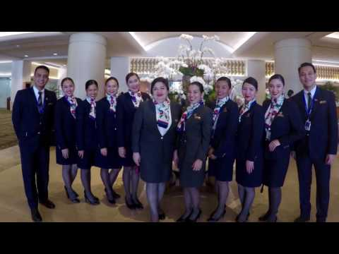 The most senior FA in Philippine Airlines retirement video